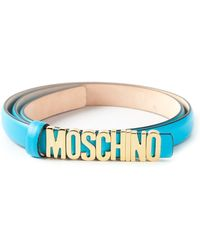 Moschino Logo Plaque Belt - Lyst
