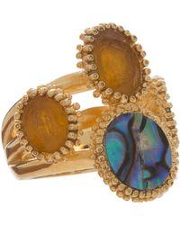 Isharya - Abalone Multi Stone Ring - Lyst