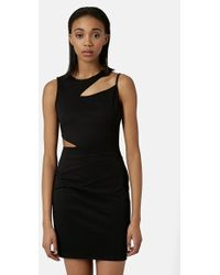 Topshop Splice Body-Con Dress - Lyst