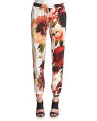 Haute Hippie Silk Floral Pants - Lyst