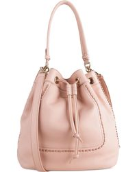 Cole Haan Nickson Drawstring Convertible Shoulder Bag pink - Lyst