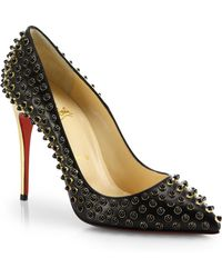 Christian Louboutin Foll Cabo Beaded Leather Pumps - Lyst