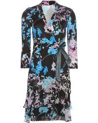 Diane von Furstenberg Cathy Printed Silk Dress - Multicolor