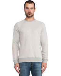Ag Adriano Goldschmied Gray Notch Sweater - Lyst