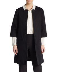 Ellen Tracy Textured Stretch Cotton Jacket - Lyst