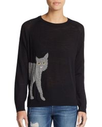 French Connection Cat Intarsia Sweater - Lyst