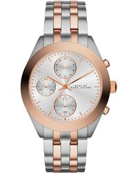 Marc By Marc Jacobs Peeker Two-Tone Stainless Steel Chronograph Bracelet Watch - Lyst
