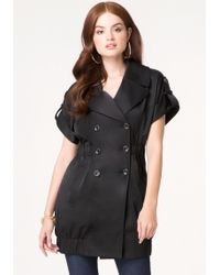 Bebe Sleeveless Trench Coat - Lyst