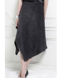 Yiqing Yin | Alpaca Blend Asymmetric Skirt | Lyst