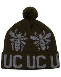 Undercover Jacquard Pompom Beanie Hat - Lyst
