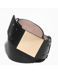 & Other Stories - Square Detail Leather Belt - Lyst