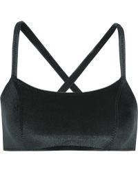 Lisa Marie Fernandez - - Stretch-velvet Sports Bra - Black - Lyst
