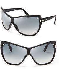 Tom Ford Ekaterina Shield Sunglasses - Lyst