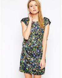 Y.A.S Mirror Print Short Sleeve Dress - Lyst