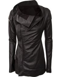 Rick Owens Leather Carapace Zipped Jacket Black - Lyst