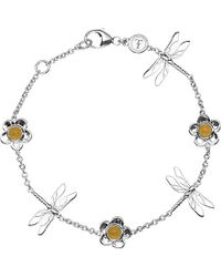 Theo Fennell - Sterling Silver And Yellow Jade Dragonfly Bracelet - For Women - Lyst