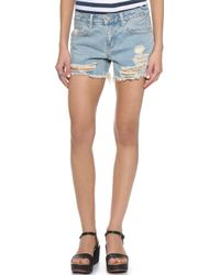 UNIF - Charlie Shorts - Washed Blue - Lyst
