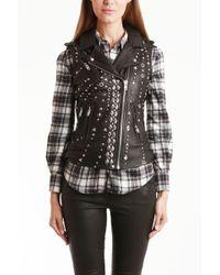 IRO Alaina Leather Studded Vest - Lyst