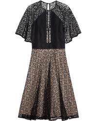 Temperley London Gold Lace Dress - Lyst