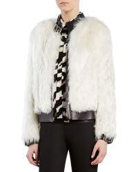 Gucci Alpaca Fur Biker Jacket - Lyst
