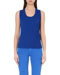 Sandro Pleated Woven Top - For Women blue - Lyst