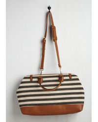 Nila Anthony - Impromptu Escape Weekend Bag In Black And Ivory - Lyst