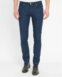 Knowledge Cotton Apparel | Blue 5-pocket Raw Stretch Slim-fit Trousers | Lyst