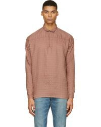 Visvim Brown Kerchief Tunic Shirt - Lyst