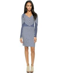 Diane von Furstenberg Mildred Dress - Midnight/White - Lyst