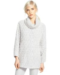 Chelsea28 Nordstrom Fluffy Turtleneck Sweater - Grey