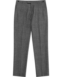 Reiss Bronte Melange Wool Blend Trousers - Lyst
