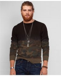 Denim & Supply Ralph Lauren Camo Fleece Pullover - Lyst