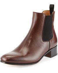 Prada Leather Chelsea Boot - Lyst