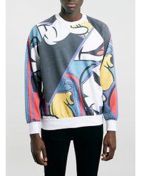 Topman Abstract Mickey Sweatshirt - Lyst