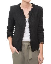 IRO | Frayed Boucle Jacket | Lyst