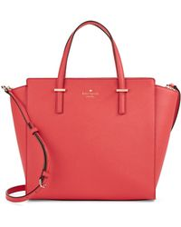 Kate Spade Hayden Leather Tote Bag pink - Lyst