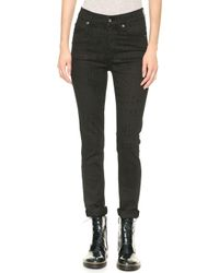 Cheap Monday Second Skin Croc Jeans Black - Lyst