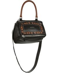 Givenchy | Pandora Small Studded Leather Shoulder Bag | Lyst
