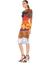 Givenchy Mosaic Cotton Tshirt Dress - Lyst