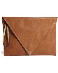 Pull&Bear - Envelope Clutch Bag in Tan - Lyst