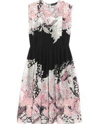 Jonathan Saunders Marlow Printed Silkgeorgette Dress - Lyst