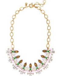 J.Crew - Mixed Gems Necklace - Lyst