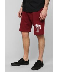 Urban Outfitters - Stussy World Tour Sweat Short - Lyst