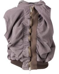Haider Ackermann Ruched Sleeveless Hoodie purple - Lyst