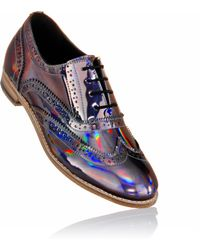 Luke Grant-muller Women'S Holographic Iridescent Metallic Brogue Shoes - Lyst