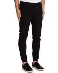 Lot78 Black Quilted Sweatpant - Lyst