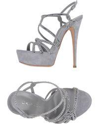 Casadei Sandals gray - Lyst