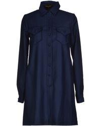 Chloë Sevigny x Opening Ceremony Flannel Dark Blue Short Dress blue - Lyst