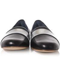 Balmain - Metallic-panel Soft Leather Loafers - Lyst
