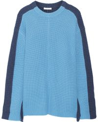 Chloé Oversized Two-tone Cashmere Sweater - Lyst